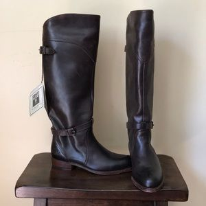 Frye Dorado Tall Leather Riding Boots